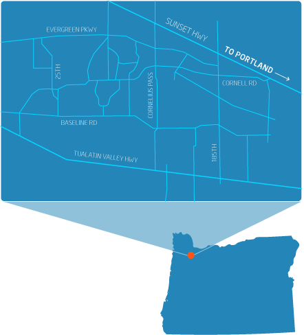 Oregon Campuses Map