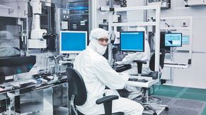 Employees in the fab manage the tools in the clean room.  Each tool performs a step toward creating a chip on a wafer in the manufacturing process.