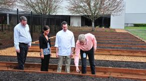 Intel Oregon created community gardens where employees can grow fruits and vegetables in the raised beds at Ronler Acres.