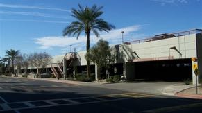 Additional covered parking on the Chandler campus is outfitted with solar panels.