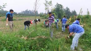 Walking into Anlong Environmental Protection Activity