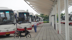 Bus parking lot