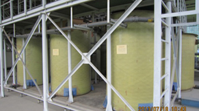 Acid Waste Neutralized (AWN) system: Adjustment tanks and Sampling tank)