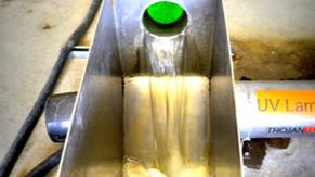 Agua tratada de la planta de tratamiento