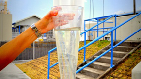 Verificación de sólidos sedimentables del agua residual tratada