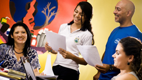 Trabajo voluntario con la junta de niñez y adolescencia