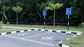 Reserved for Handicaps Priority Parking Area