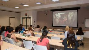 In 2013, the CompuGirls students saw a screening of the Intel-funded film, Girl Rising, which highlights the struggles and triumphs of girls from around the world who are determined to get an education.