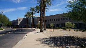 OC-2, one of Ocotillo's manufacturing support buildings, features an employee café and a state-of-the-art fitness center""