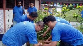 Volunteers Tree Planting at School