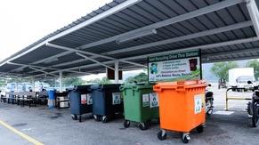 Drive Thru Recycling Station