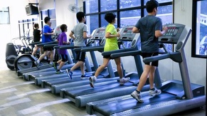 Exercise at Fitness Center