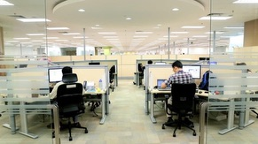 Office at Flexible Cubicle
