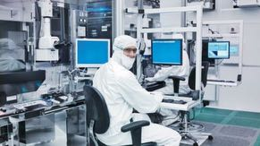 Chips are manufactured using state-of-the-art technology in clean rooms, which contain tools that each performs a single step in the manufacturing process.