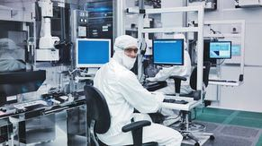 Employees in the fabrication facility (fab) manage the tools in the cleanroom.  Each tool performs one step in creating a chip on a wafer.