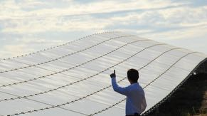 Solar panels generate some electricity for Intel's Oregon campuses and serve as covered parking at Ronler Acres.