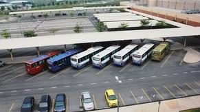 Bus parking lot