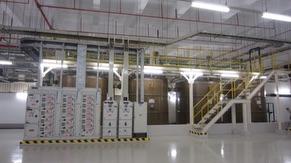 Acid Waste Neutralized (AWN) system: Adjustment tanks and Sampling tank)