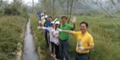 Walking into Yunqiao Wetland Environmental Protection Activity